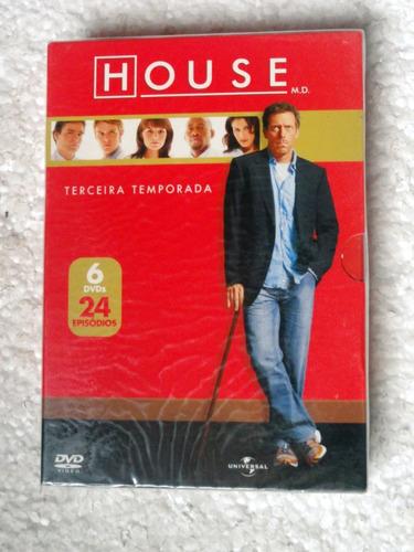 Dvd Box House / Terceira Temporada / 6 Dvds Original Lacrado