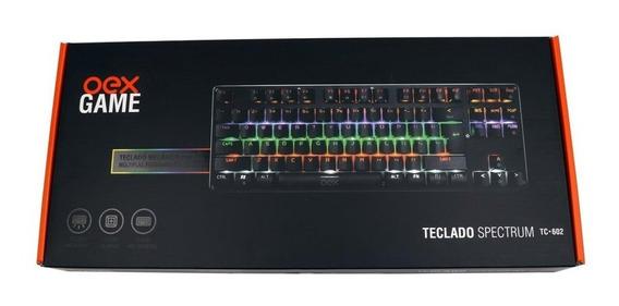 Teclado Gamer Mecânico Oex Spectrum Tc-602 Com Led