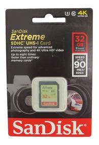 Cartão Memória Sandisk Sdhc 32gb Extreme Iii Classe 10