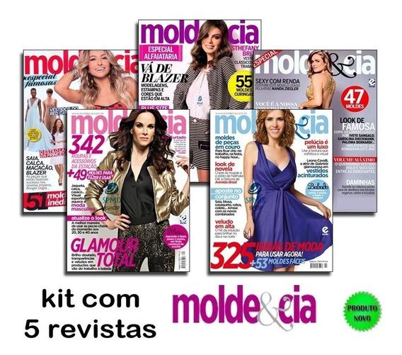 Kit Lote Com 5 Revistas Molde E Cia Com Costura Moldes Moda