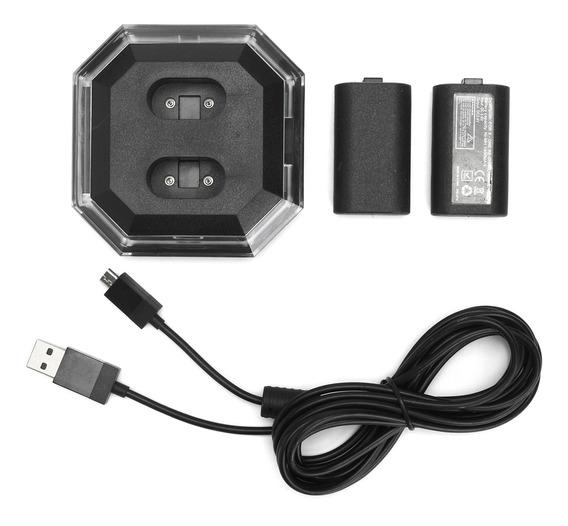 Carregador Duplo+2pcs Baterias Recarregáveis Ni-mh Para Xbox