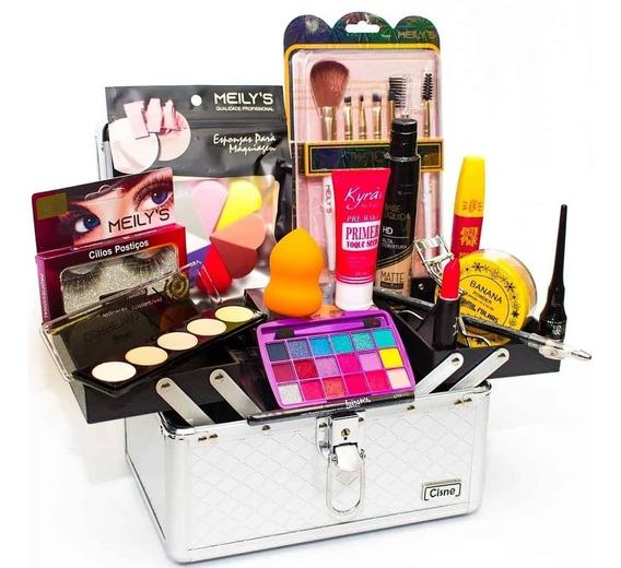 Maleta Maquiagem Profissional + Delineador - Oferta