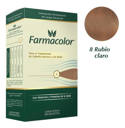 Farmacolor Kit Rubio Claro N° 8 X 1 Estuche. De Fábrica.
