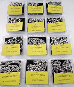Kit C/ 12 Correntinhas Grossa Inox Produto Nacional Atacado