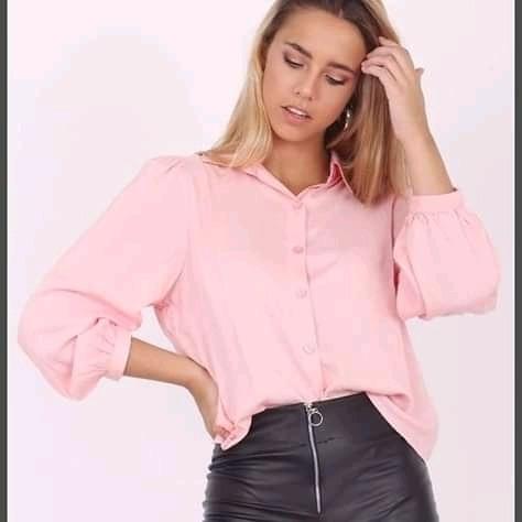 Camisa De Fibrana Lisa De Mujer