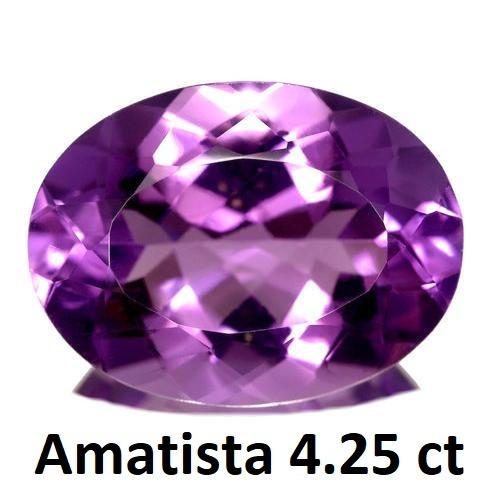 Amatista Corte Oval De 4.25 Quilates (ct)