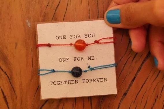 Conjunto De Pulseiras Together Forever + Embalagem