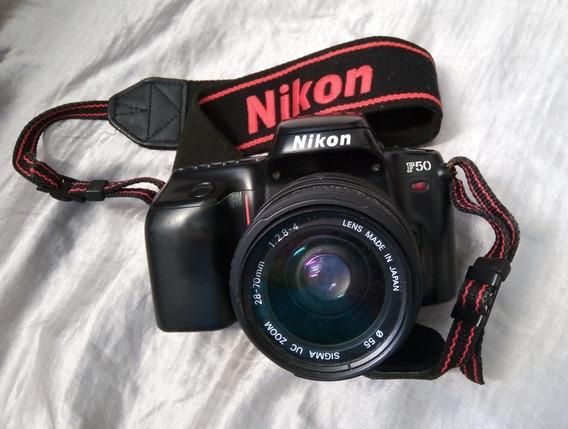 Nikon F50 Analógica Completa Com Tele Inclusa
