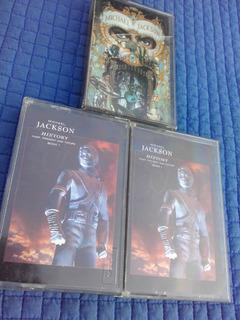 Michael Jackson Dangerous + History X 3 Cassettes