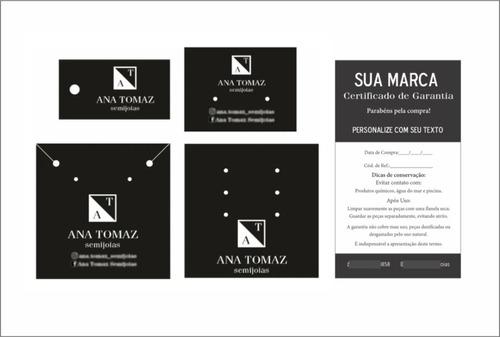 1 Mil Kit Tag Personalizada Bijuteria Joia + 200 Certificado