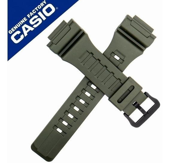 Pulseira Relógio Casio Aq-s810-3v Verde Peça 100% Original