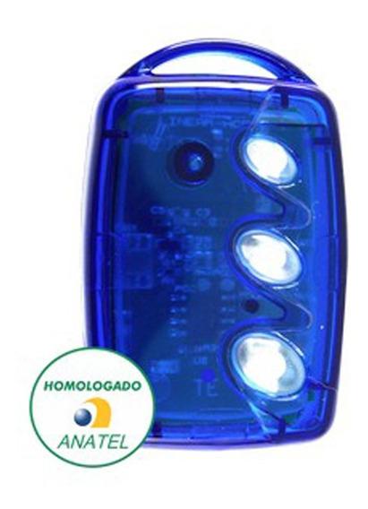 Controle Remoto Linear Não Clonável 3 Teclas Azul Top Full
