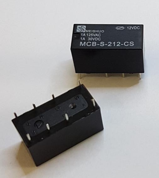 Rele 12v 12vcc 12vdc Mcb-s-212-cs - 1a - Kit 10 Pçs