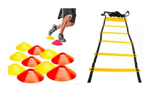 Imagen 1 de 7 de Promo Kit Entrenamiento Escalera Coordinacion + Cono Tortuga