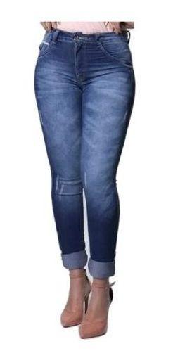 Calça Jeans Feminina Mid Skinny Cintura Média Biotipo Barata