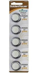 Bateria Lithium Golden Power Cr2025 3v Cartela 5 Unidades