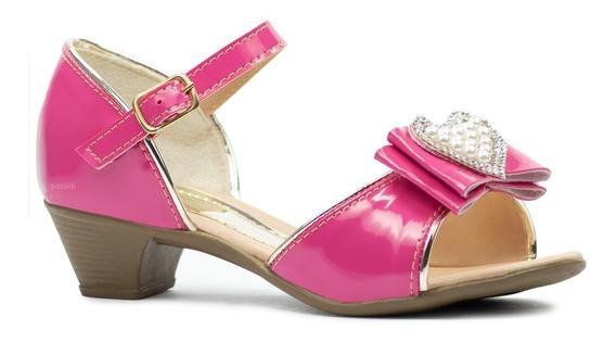 Sandalias Feminina Infantil Menina Salto Sapato Barato 33