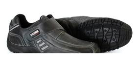 Sapatênis Masculino Sapato 100% Couro Bovino Facil Calçar