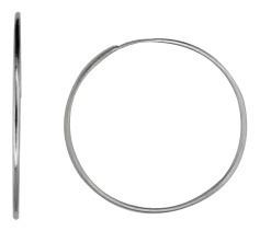 Brinco Argola Fina Grande 5cm Rhodium Rommanel 120144