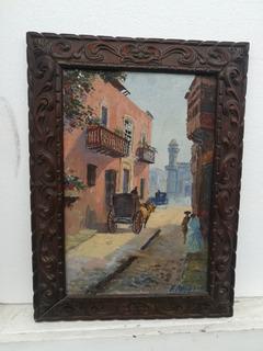 Antigua Pintura De Lima Colonial Autor, E. Massias
