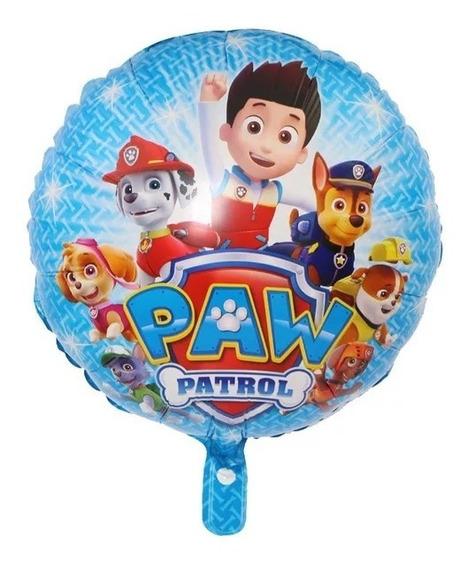 10 Globos Ryder Paw Patrol