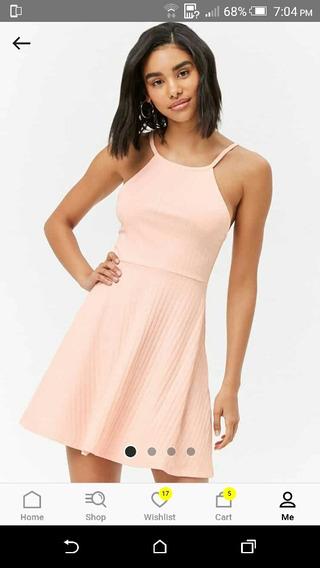 Vestido Forever 21 Talla L Color Rosa Palido