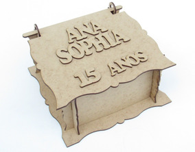 35 Lembrancinhas Caixinhas Personalizadas Em Mdf Cru 15 Anos
