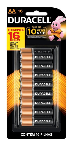 Kit Duracell Pilha Alcalina 28 Unidades Aa + 16 Unidades Aaa