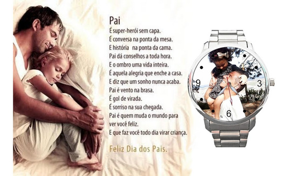 Relógio De Pulso Personalizado Dia Dos Pais Do Seu Jeito