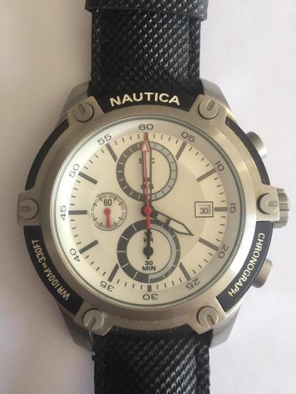 Relógio Masculino Nautica A17574g Pulseira Couro