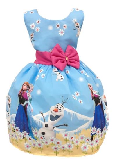 Kit 5 Vestido Temático Infantil Tema Festa Luxo Tule Filó