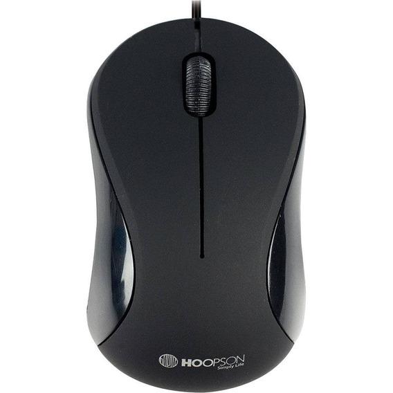 Mouse Usb Óptico Hoopson Office Ms-034p Preto