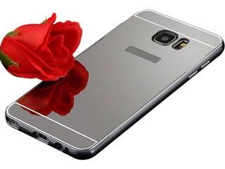 Capa Case Alumínio Espelhada Galaxy S6 Edge Plus Preto