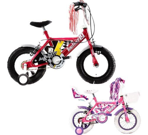 Imagen 1 de 7 de Bicicleta Infantil Stark Rod 12 Extreme Pink Rueditas Acero