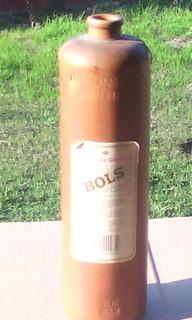 Botella De Ginebra Bols Antigua De Barro/ceramica