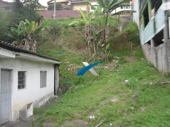 Terreno À Venda, 341 M²- Vila Aurora - Ribeirão Pires/sp - Te0281