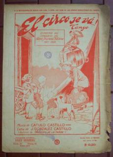 Tango El Circo Se Va Gonzalez Castillo Cátulo Catillo