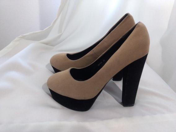 Zapatos Stilettos Gamuza Talle 40 Taco Alto Hermosas