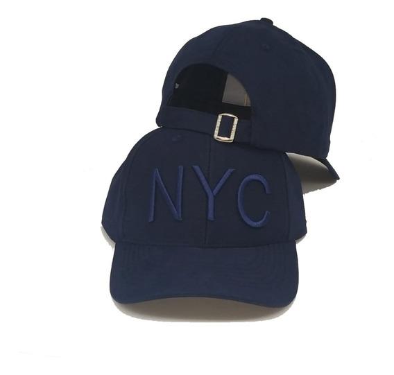 Boné Nyc New York City Fitão Bordado Aba Curva Top Strapback