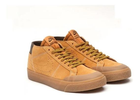 Zapatillas Nike Sb Zoom Blazer Chukka Hombre Marron Sb