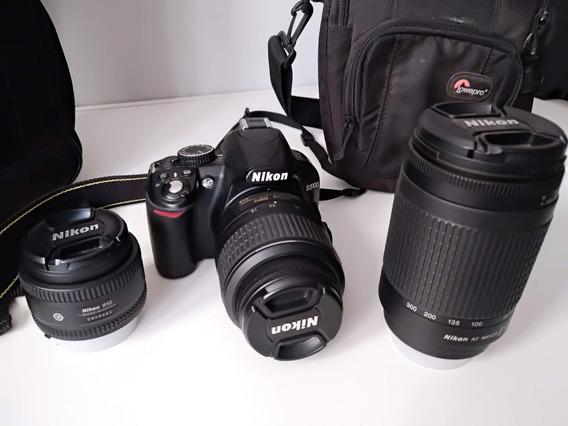 Nikon D3100 + Lentes + Brindes