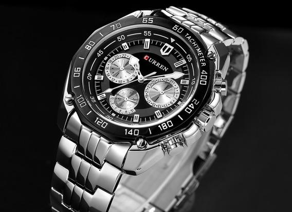 Relogio Curren Luxo Masculino Original Watch + Brinde Elegan