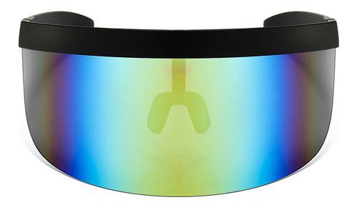 Oversize Óculos De Sol Retro Futuristic Shield Viseira Más