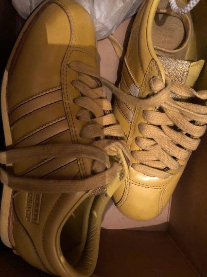 Zapatillas adidas Originalesamarillas Cuero Únicas Importad