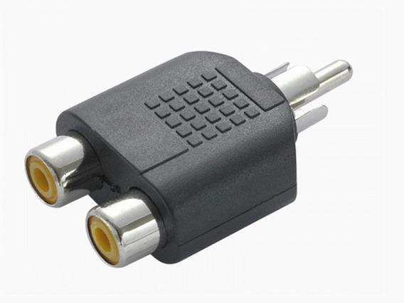 Adaptador Splitter Duplicador Rca 2 Fêmea X 1 Plug Macho