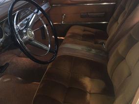 Dodge Polara Blanco Vinilico Negro. Tapizado Pana Marron.