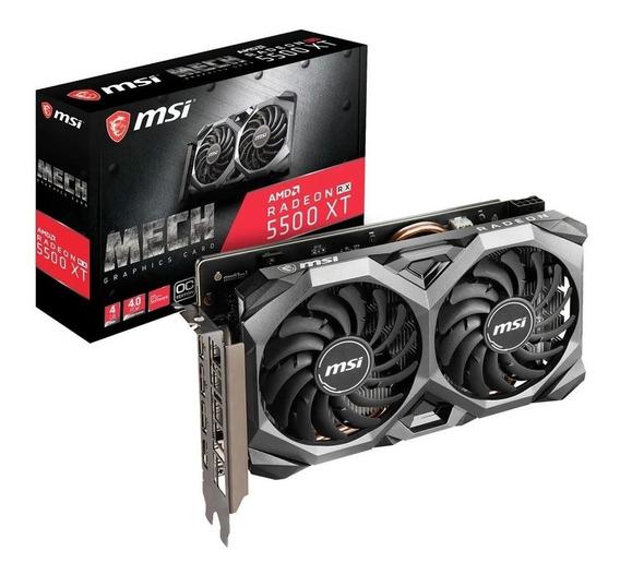 Placa Video Msi Radeon Rx 5500 Xt Mech Oc 4gb Gddr6 Oficial