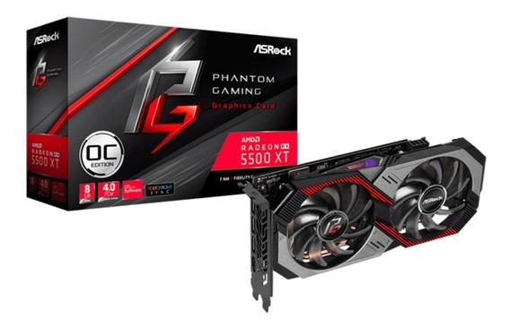 Placa Video Asrock Rx5500xt Phantom Gaming 8g Ddr6 Castelar