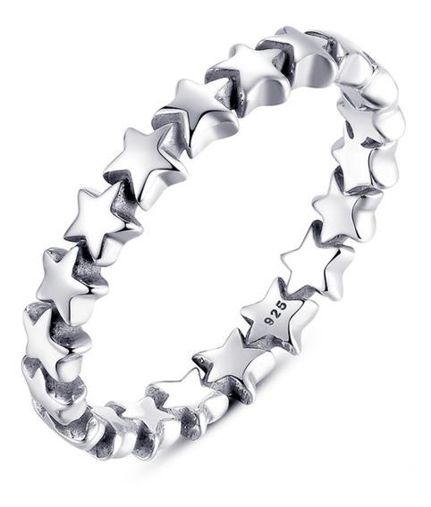 Anel Estrelas Pura Prata 925 - Compre Joias Direto Da Fábrica E Economize Dinheiro