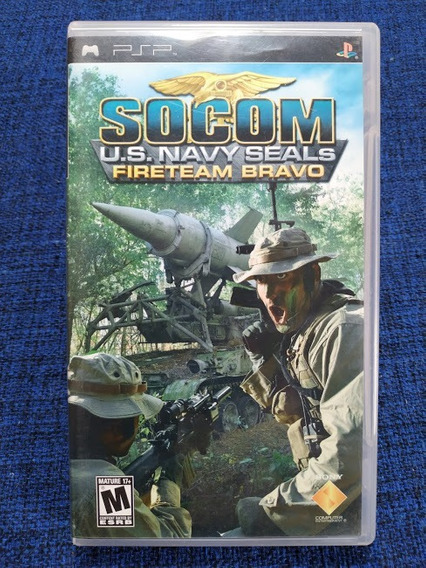 Socom U.s. Navy Seal Fireteam Bravo Psp Usado Completo